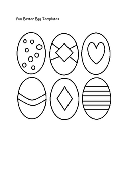Easter egg templates and pre colored by jamesgang4 tpt easter egg templates and pre colored maxwellsz