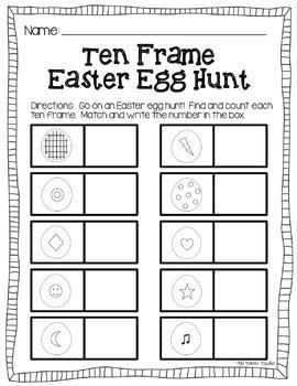 Easter Egg Ten Frame Hunt {Around The Room}