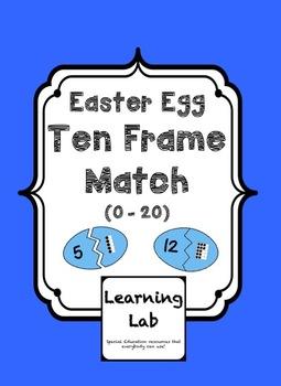 Easter Egg Ten Frame Match