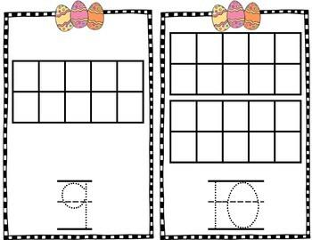Easter Egg Ten Frame Mats {FREE}