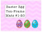 Easter Egg Ten-Frame Mats Numbers 1-20