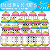 Easter Egg Ten and Twenty Frame Clipart