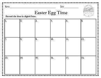 Easter Egg Time Center  1.MD.3