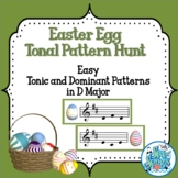 Easter Egg Tonal Pattern Hunt-Easy Tonic and Dominant Patterns in D Major