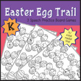 Easter Egg Trail Board Game - Speech Therapy: /k/ Sound