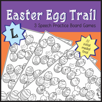 Easter Egg Trail Board Game - Speech Therapy: /l/ Sound