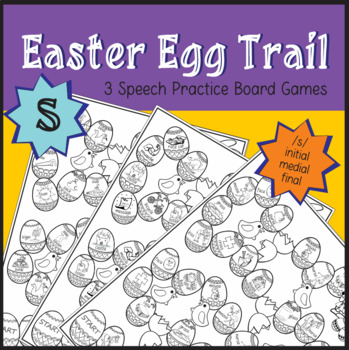 Easter Egg Trail Board Game - Speech Therapy: /s/ Sound