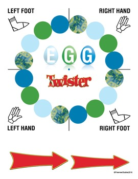 Easter Egg Twister Game