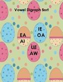 Easter Egg Vowel Digraph Sort & Worksheet