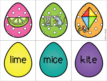 Easter Egg Vowel Matching Game