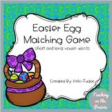 Easter Egg Vowel Matching Game