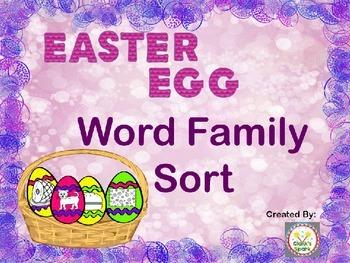 Easter Egg Word Family Sort