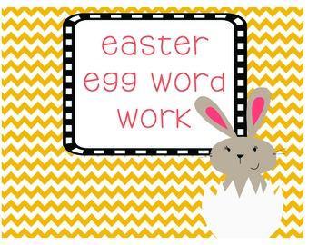 Easter Egg Word Work