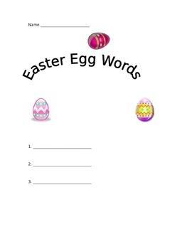 Easter Egg Words