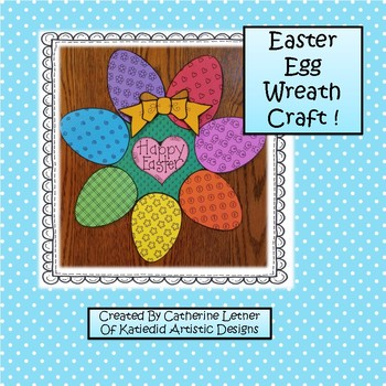Spring Easter Egg Wreath Craft