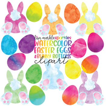 Easter Egg and Bunny Clipart Watercolor