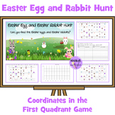 Easter Egg and Easter Rabbit Hunt - Coordinates in First Quadrant Partner Game