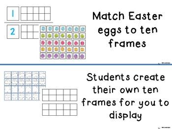 Easter Egg and Ten Frames and Ten Frames Centers