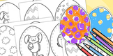 Easter Egg coloring in Templates