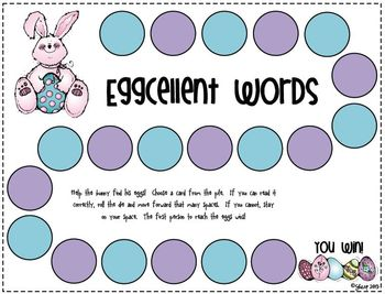 Easter - Eggcellent Easter Game Pack - Math & Literacy