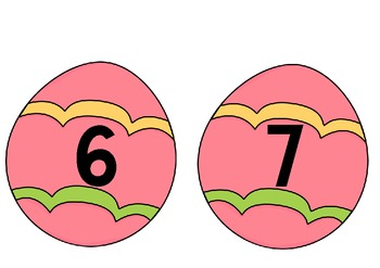 Easter Eggs 0-9 for wall displays
