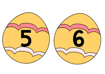 Easter Eggs 1 - 10 for wall display