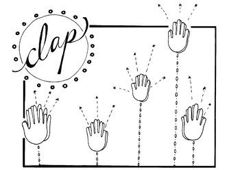 Clap Coloring Page