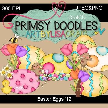 Easter Eggs 300 dpi clipart