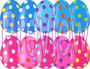 Easter Eggs ~ 51 3D Easter Eggs with Colorful Dots ~ Updated