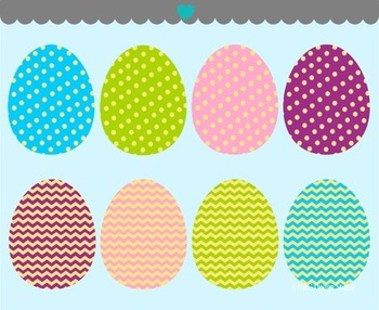 Easter eggs patterns clipart commercial use