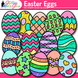 Easter Egg Clip Art {Cute Glitter Graphics for Spring Acti
