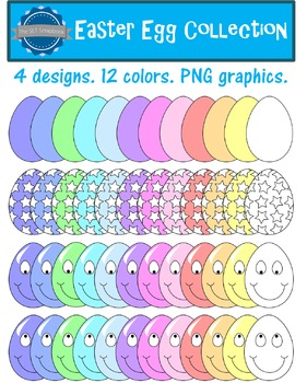 Easter Eggs Clip Art Bundle - Personal and Commercial Use OK