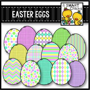 Easter Eggs Clip Art FREEBIE