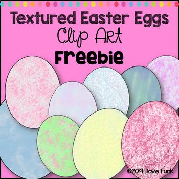 Easter Eggs Clip Art  FREEBIE Textured Designs