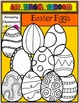 Easter Eggs Clip Art Set - Bold and Bright Colors