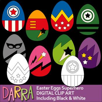 Easter Eggs Clip Art Superhero style clipart