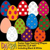 Easter Eggs Clip Art for Teaching Shapes