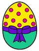 Easter Eggs Clipart - 63 Bright, Colorful Easter Eggs + Black & Whites