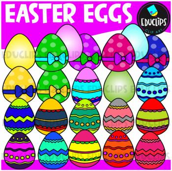 Easter Eggs Clipart Bundle {Educlips Clipart}
