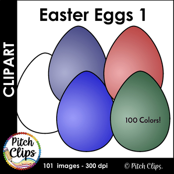 Easter Eggs Clipart (Clip art) - Commercial Use, SMART OK!