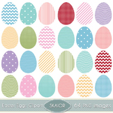 Easter Eggs Clipart Digital Scrapbooking Clip Art Vector G