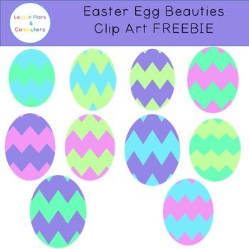Easter Eggs Clipart FREEBIE