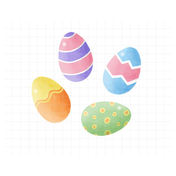 Use  C B Happy Easter Clipart Easter Bunny And Colored Eggs Spring Graphicscolored Eggs Clipart