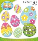 Easter Eggs Clipart {Zip-A-Dee-Doo-Dah Designs}