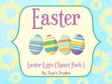 Easter Eggs Clipart Pack I