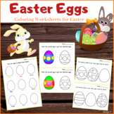 Easter Eggs Coloring Worksheets