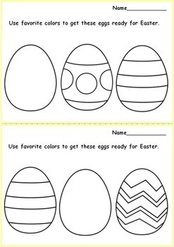 Easter Eggs Coloring Worksheets