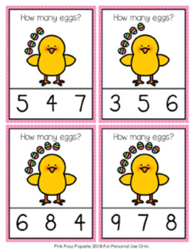 Easter Eggs Count and Clip Cards