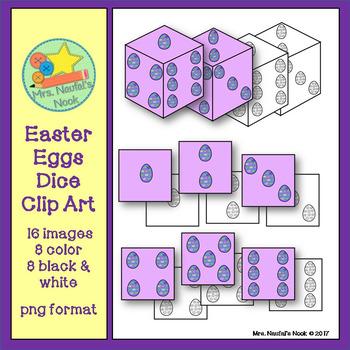 Dice Clip Art - Easter Eggs