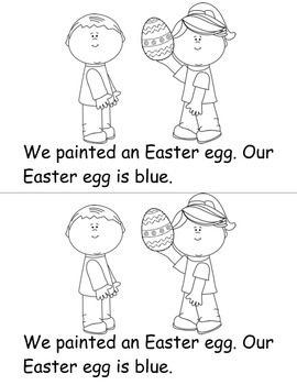Easter Eggs Emergent Reader
